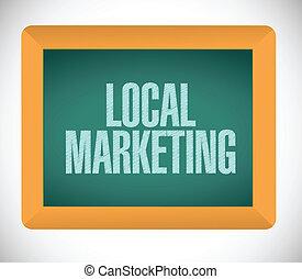 local marketing sign illustration design