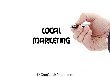 Local marketing text concept