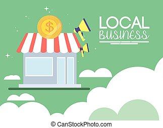 local, negócio cidade, promoção