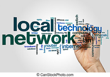 Local network word cloud