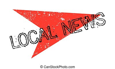 Local News rubber stamp