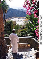 Al Abreyeen, Misfah, Oman - Local Omani residents walk ...