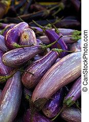 Organic, fresh farm-grown vegetables background.