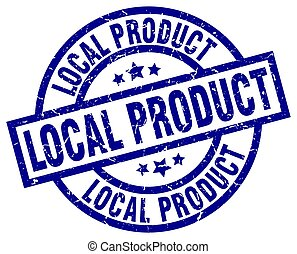 local product blue round grunge stamp
