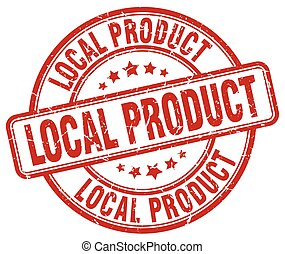 local product red grunge round vintage rubber stamp