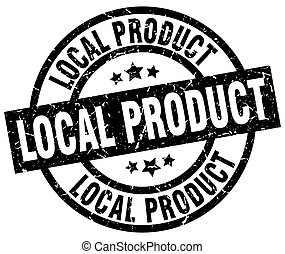 local product round grunge black stamp