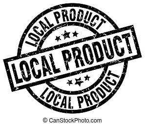 local product round grunge black stamp