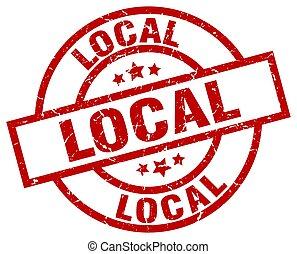 local round red grunge stamp