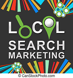 Local Search Marketing Dark - local search marketing concept...