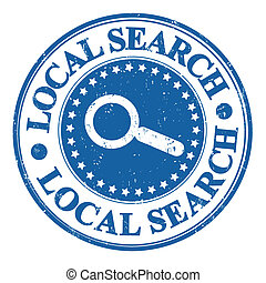 Local search SEO concept grunge rubber stamp, vector illustration