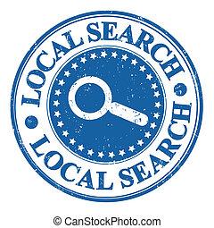 Local search stamp - Local search SEO concept grunge rubber...