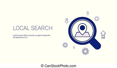 Local Search Web Banner With Copy Space Seo Marketing Strategy Concept