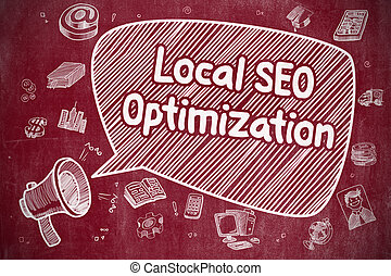 Local SEO Optimization - Business Concept.