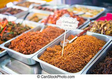 local thai food in market