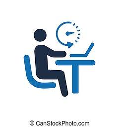 local trabalho, escritório, ícone