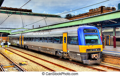 local, train, à, sydney, poste central