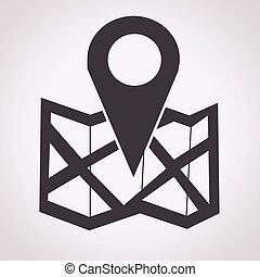 localização, ícone