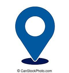 localização, alfinete, ícone