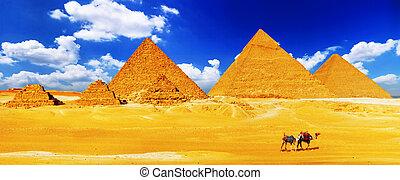 localizado, gran pirámide, giza