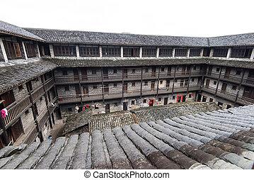 localizado, jiangxi, hakka, china, encerrado