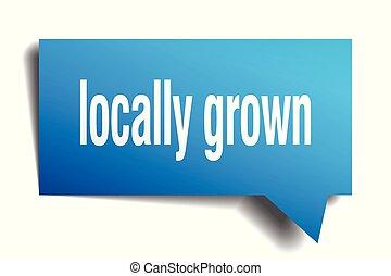 locally grown blue 3d speech bubble - locally grown blue 3d...