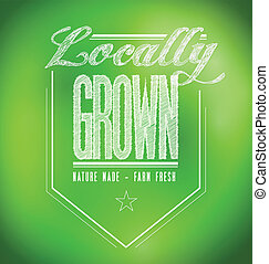 locally grown illustration design