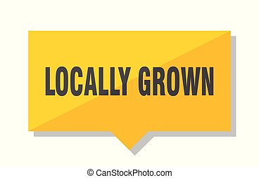 locally grown price tag - locally grown yellow square price...