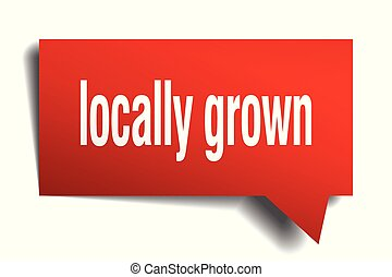 locally grown red 3d speech bubble - locally grown red 3d...