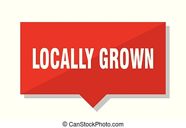 locally grown red tag - locally grown red square price tag