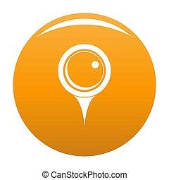 Locate pin icon orange