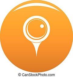 Locate pin icon vector orange