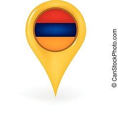 Location Armenia - Map pin showing Armenia.
