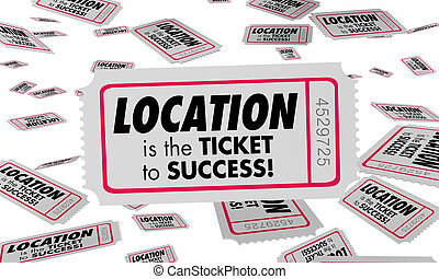 Location Best Place Area Spot Ticket Success 3d Illustration