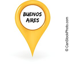 Location Buenos Aires - Map pin showing Buenos Aires.
