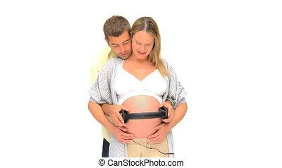 location, couple, li, leur, avenir, bébé
