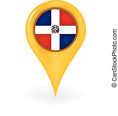 Location Dominican Republic - Map pin showing the Dominican ...