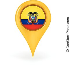 Location Ecuador - Map pin showing Ecuador.