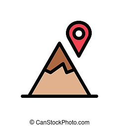 location  flat color icon