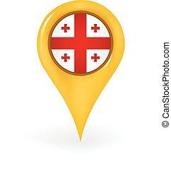 Location Georgia - Map pin showing Georgia.