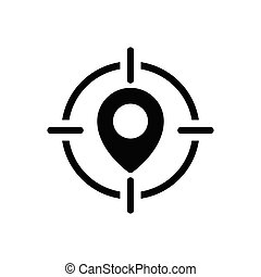 location  glyph flat icon