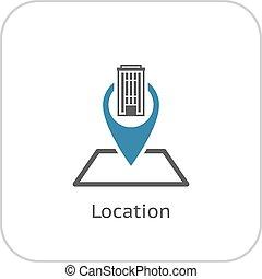 Location Icon. Flat Design.