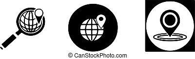 location icon isolated on white background