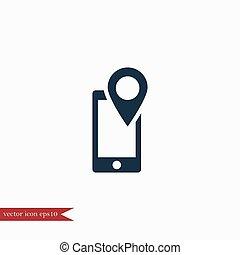 Location icon simple illustration