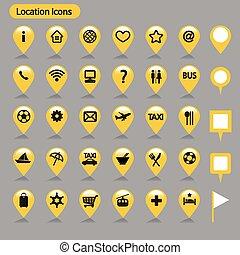location icons _ Yellow