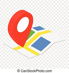 Location isometric 3d icon