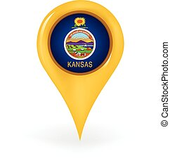 Map pin showing Kansas.