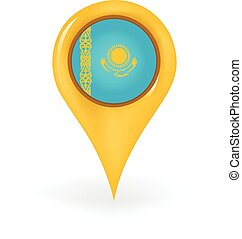 Location Kazakhstan - Map pin showing Kazakhstan.