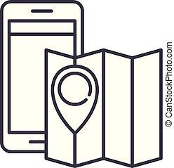 Location line icon concept. Location vector linear illustration, symbol, sign
