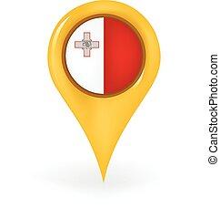 Location Malta - Map pin showing Malta.