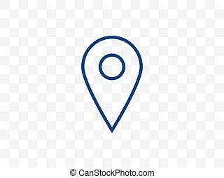 Location, map marker icon. Vector illustration, flat design.